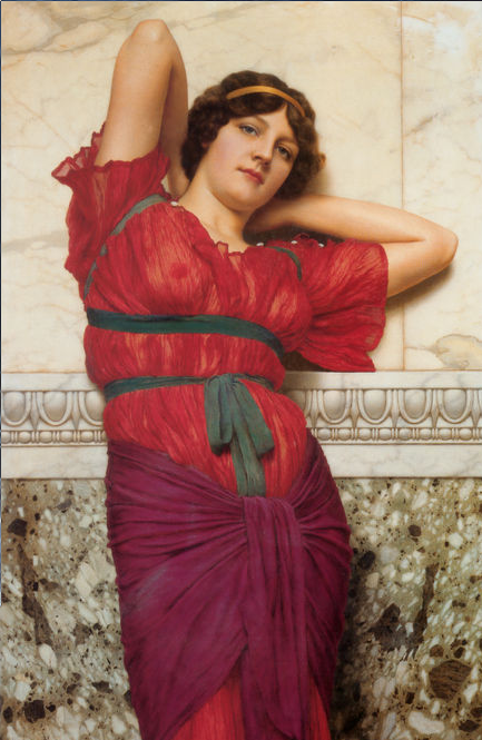 godward contemplation painting
