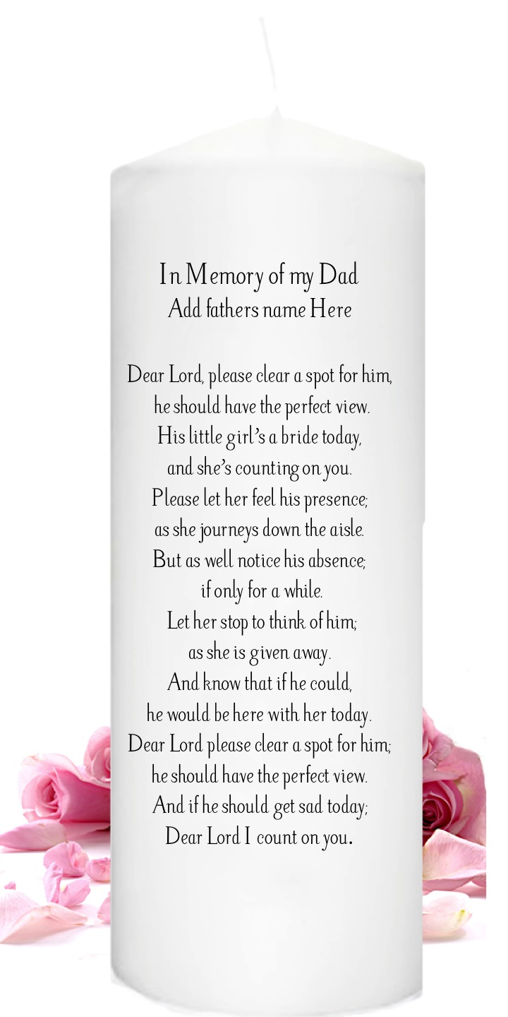 In Loving Memory Candles for weddings