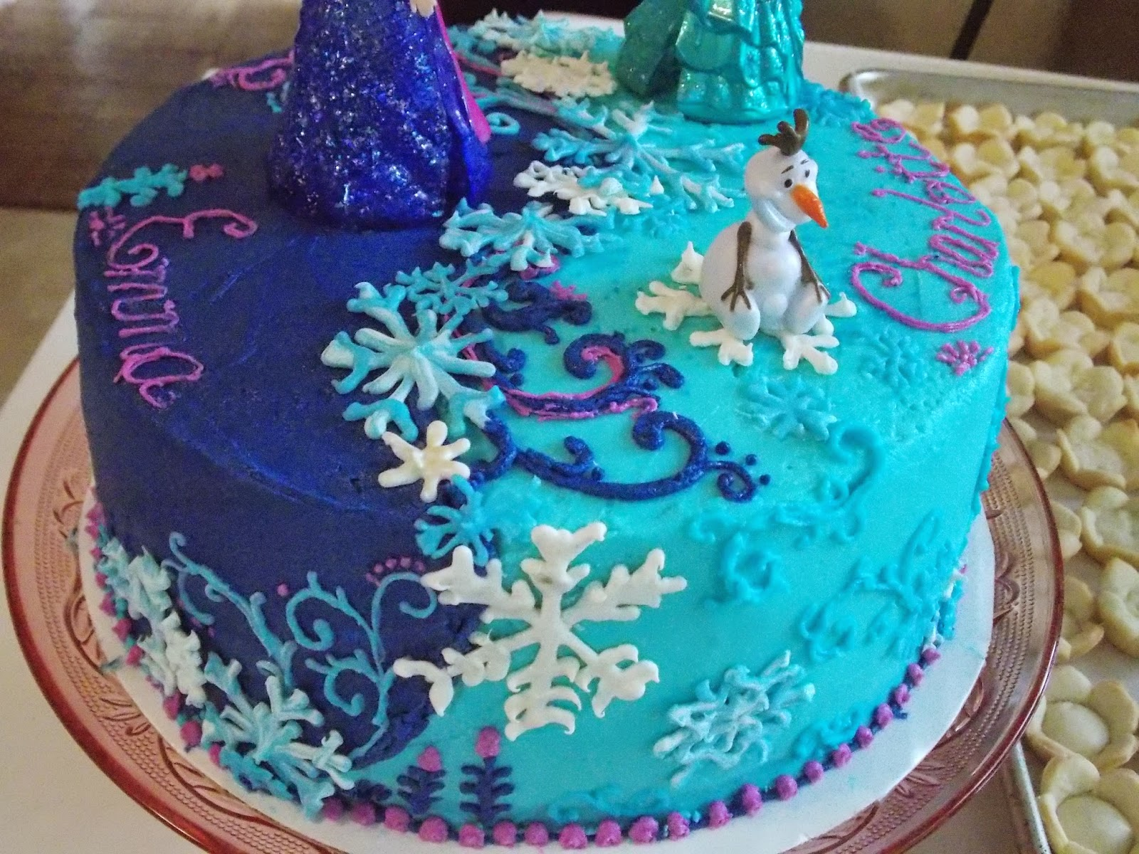 Dawns Divine Delights Frozen Inspired Cake for Two Sisters