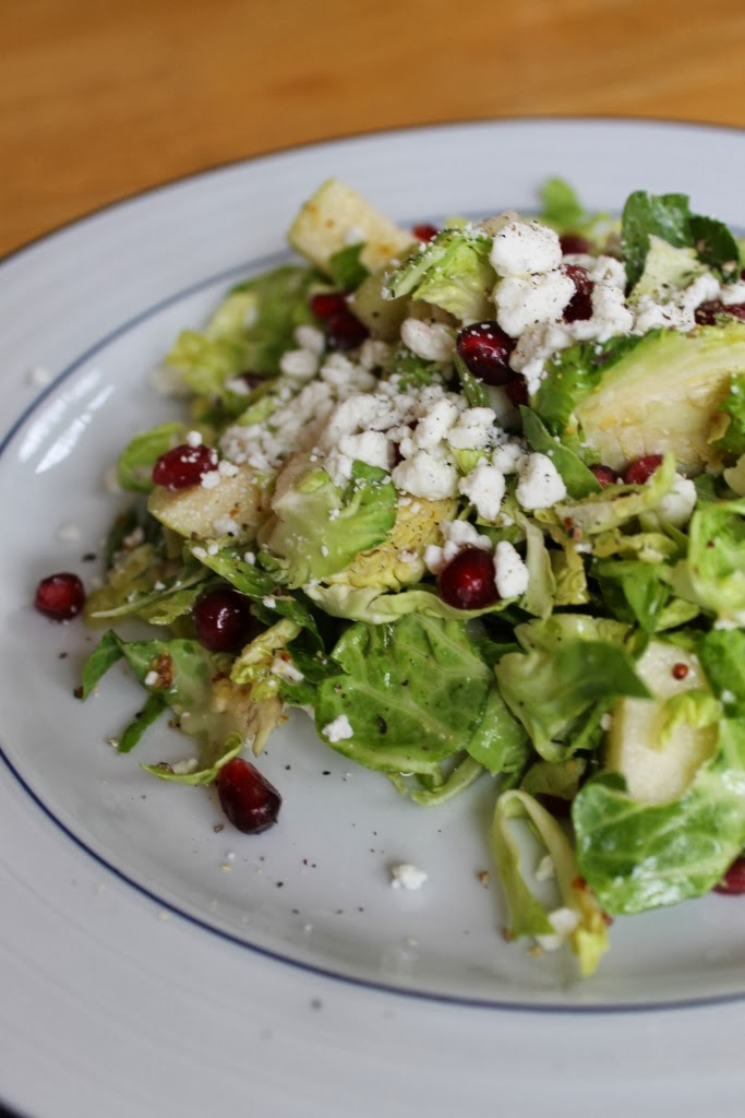 Brussels sprouts, Pomegranate, Apple, Goat cheese and Maple ...