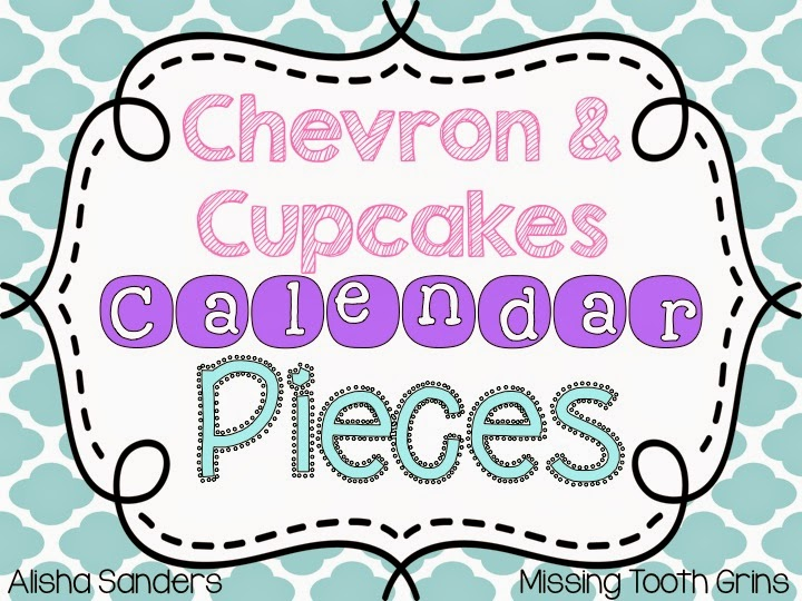 http://www.teacherspayteachers.com/Product/Chevron-Cupcakes-Calendar-Pieces-1301717