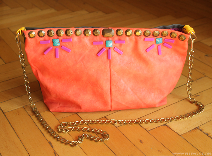 beaded handmade clutch