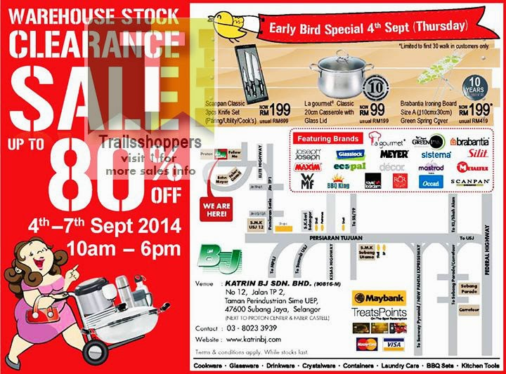 Katrin BJ Sdn Bhd Warehouse Stock Clearance Sale offers