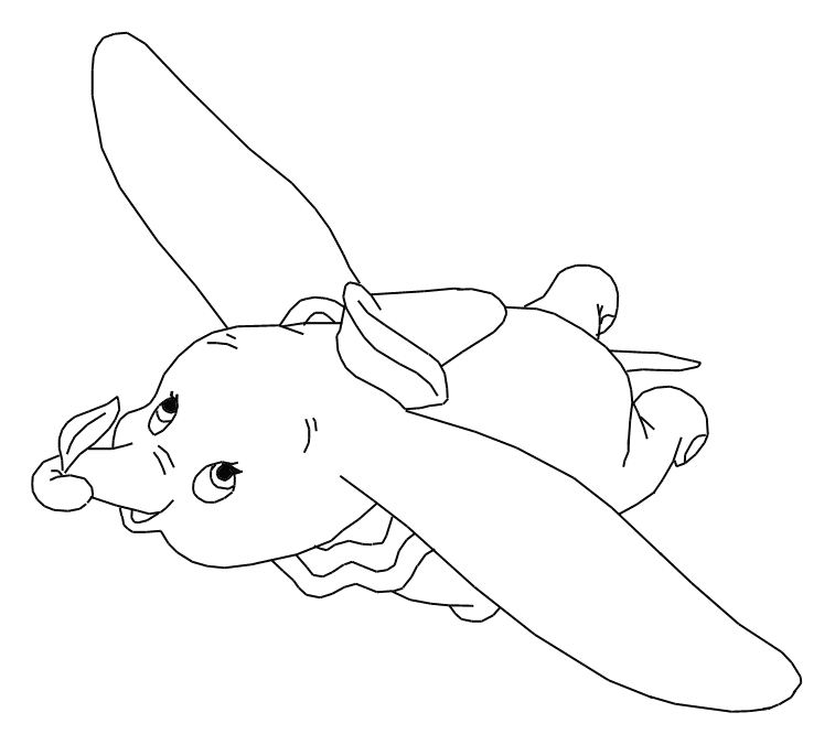 disney animal dumbo coloring pages - Dumbo Elephant Coloring Pages