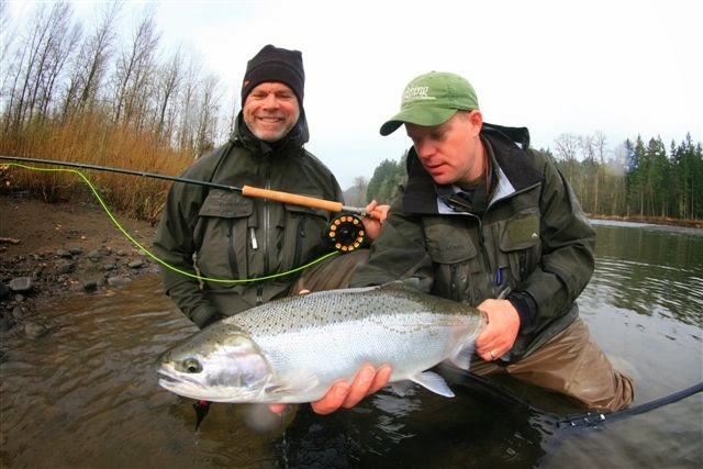 Fly fish oregon water time report winter steelhead for Trask river fishing report