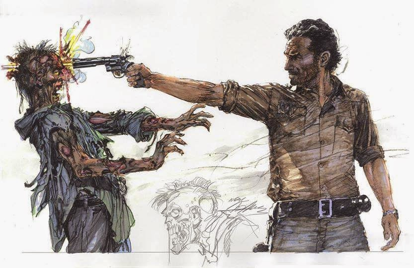 Neal Adams' Rick from The Walking Dead