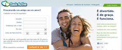 OASIS.COM ACTIVE- SITE DE RELACIONAMENTOS