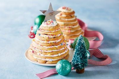 Christmas tree cookie stacks Recipe
