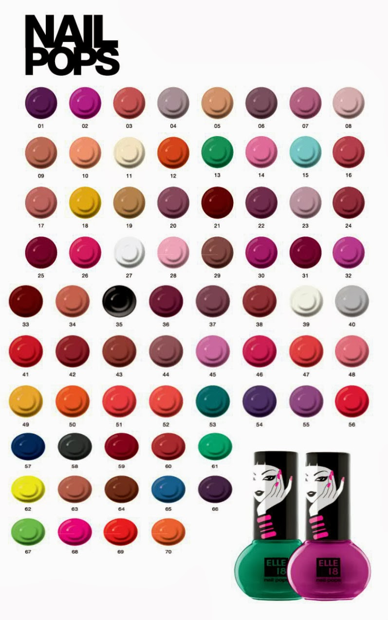 Elle 18 Nail Pop Shade Chart