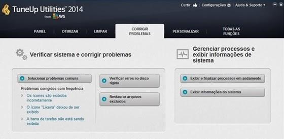 Opção Corrigir Problemas do TuneUp Utilities 2014 - 560x274
