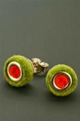 Felt Earrings Anette Wilhelmi of Gnu Design