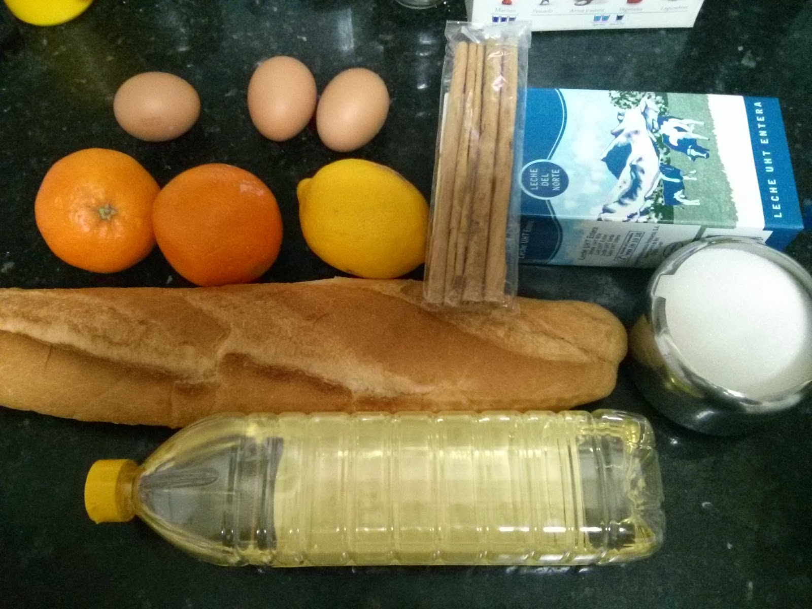 Torrijas con sirope de Naranja