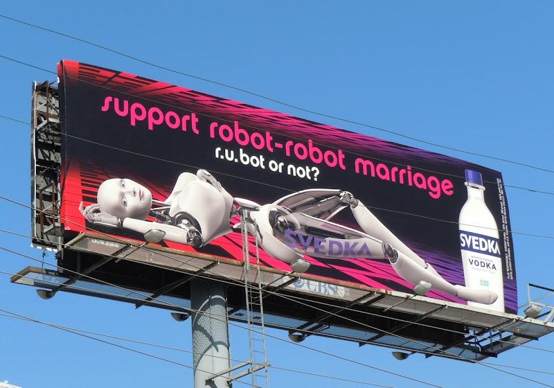 Svedka robot marriage billboard