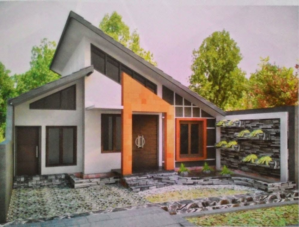 gambar rumah minimalis kolam tropis