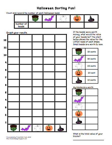 Bookish Ways in Math and Science: A Halloween Treat - Math Freebie