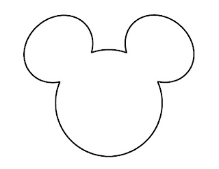 Mickey Mouse Head Outline Template