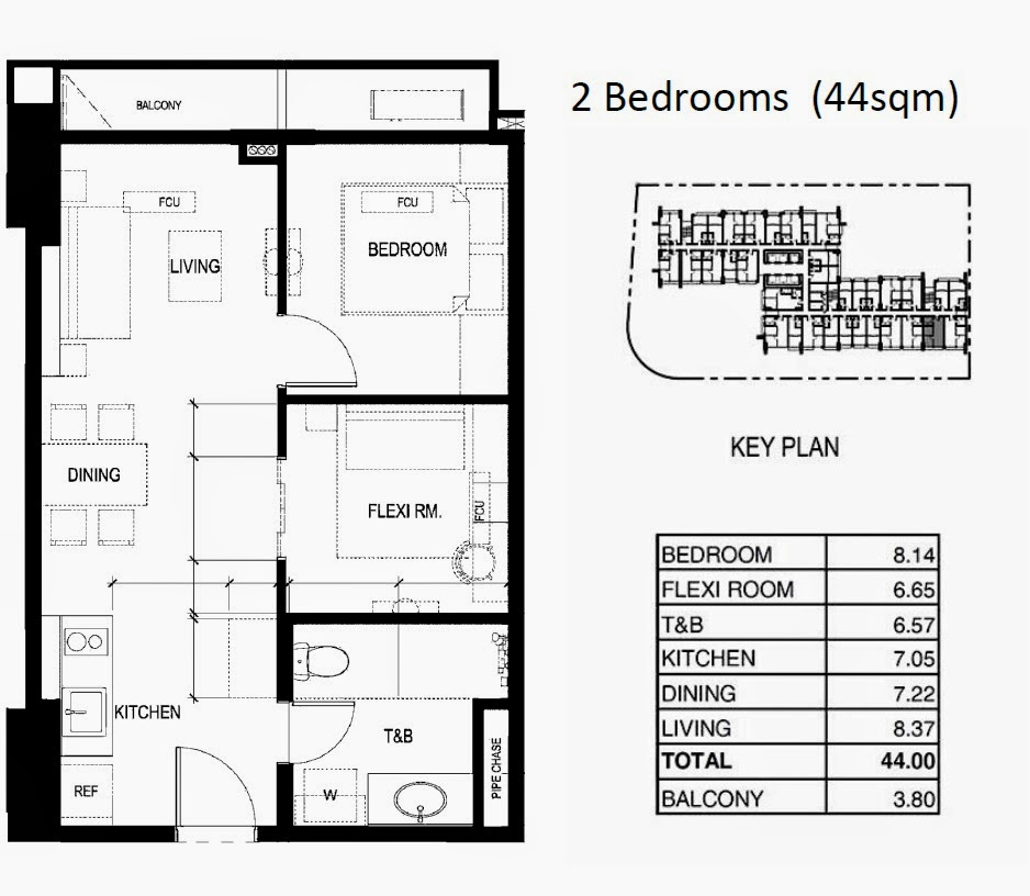 100 West @ Makati City, Philippines 2 br