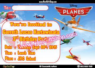 Undangan Planes Garreth Kartu Undangan Ulang Tahun Anak (Invitation Card)