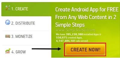 الطريقة الصحيحة لإنشاء تطبيق أندرويد خاص بمدونتك في 5 دقائق مجانا