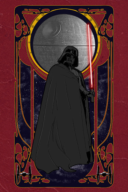 fashion and action darth vader imperial art nouveau by sebasebi. Black Bedroom Furniture Sets. Home Design Ideas