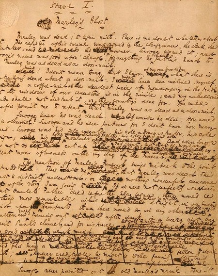 a page from dickens revisions of a christmas carol - A Christmas Carol Full Text