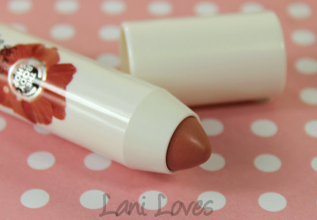 The Body Shop Lip & Cheek Velvet Stick - Poppy Nude Swatches & Review