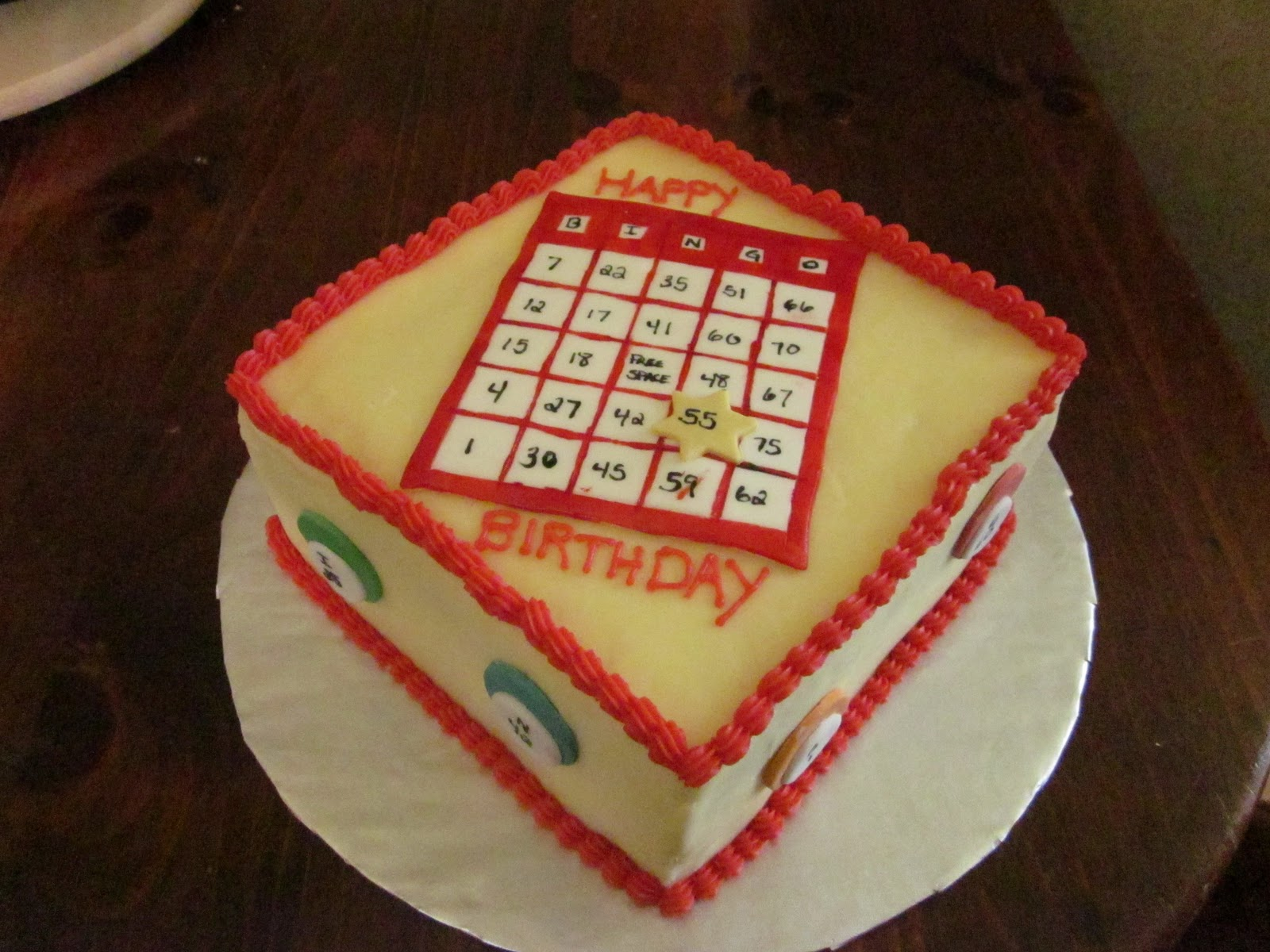 Second Generation Cake Design Bingo Birthday Cake