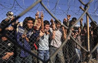 Filhos de imigrantes no campo de detenção em Filakio [fonte: Nikolas Giakoumidis]