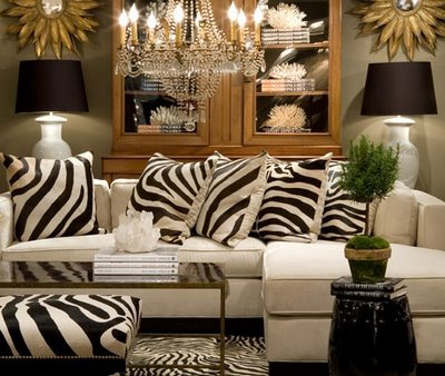 I Feel Like I Can Almost Hear This Sofa Roaru2026.loaded With Its Zebra  Pillows. Against The White Sofa Its Quite Beautiful And Dramatic (though I  Would Use ...