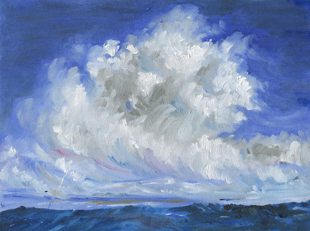 Hawaiian Clouds, painting by Amrita Banerjee (part of her portfolio on www.indiaart.com)