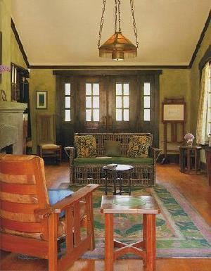 This Is The Cattle Selling Cottage, All Original Stickley Furniture. I  Believe The Rug Is A William Morris Original.