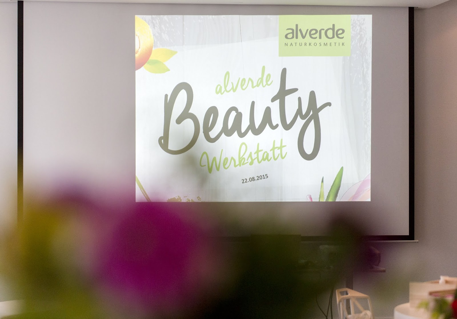 Alverde Blogger Event 2015 - Beauty Werkstatt