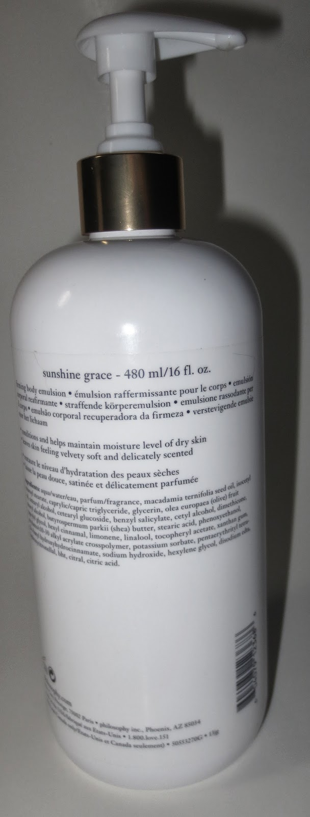 Philosophy Sunshine Grace Firming Body Emulsion