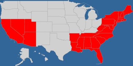 Bereits besuchte Staaten