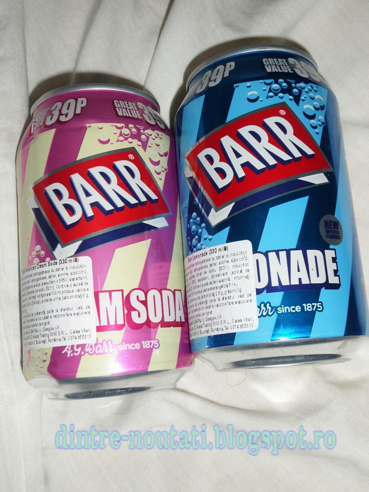 BARR AMERICAN !CECREAM SODA Bautura racoritoare cu zahar si indulcitori aroma de inghetata