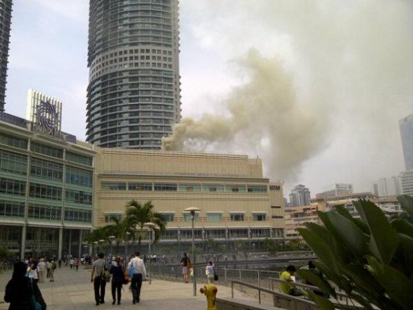 KLCC terbakar
