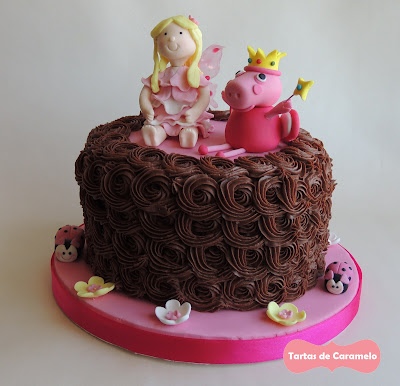Tarta del hada buena y el hada Peppa Pig: vista completa
