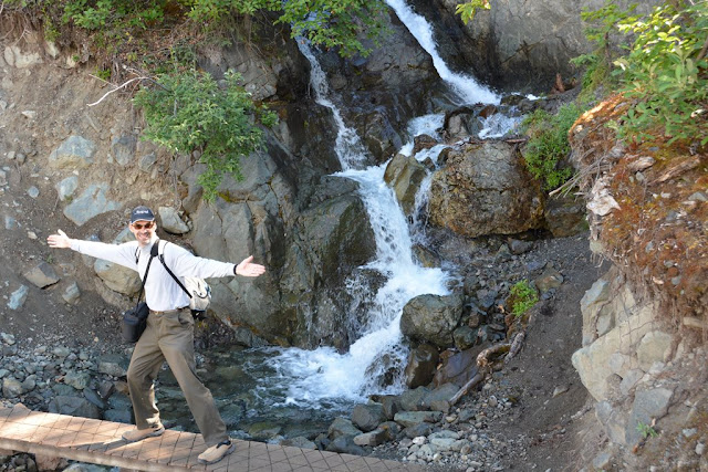 Kennicott Glacier waterfall
