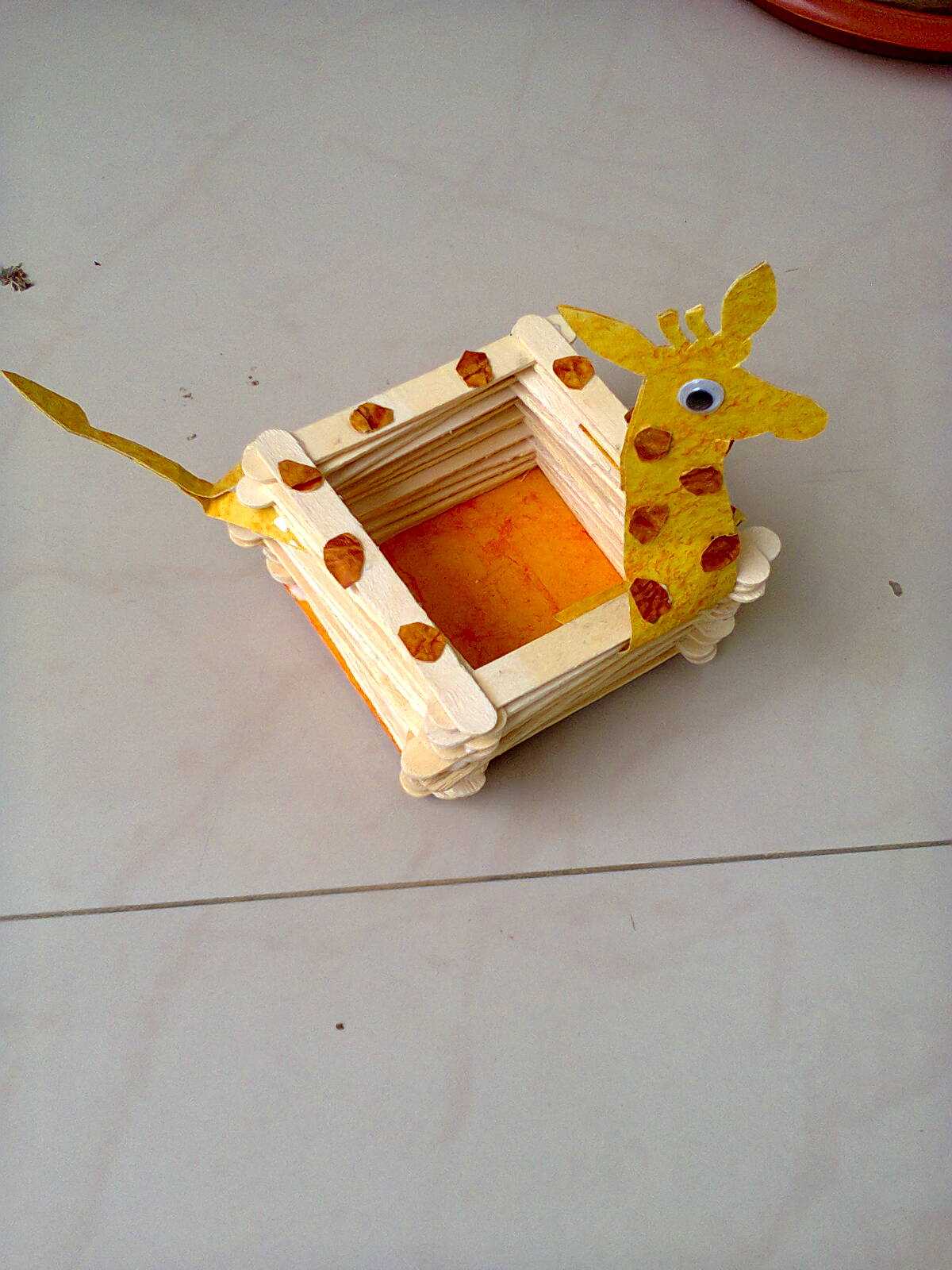 Craftis corner giraffe bangle duck pencil holder for Best out of waste ideas from ice cream stick