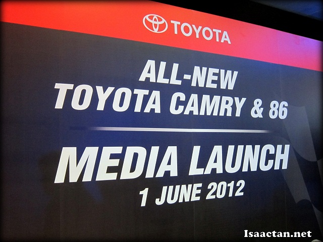 All-New Toyota Camry & 86 Media Launch