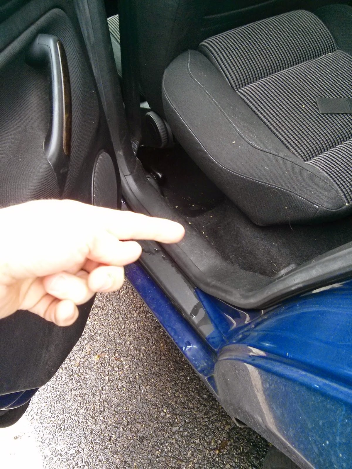 VW Golf rear door water Leaking in