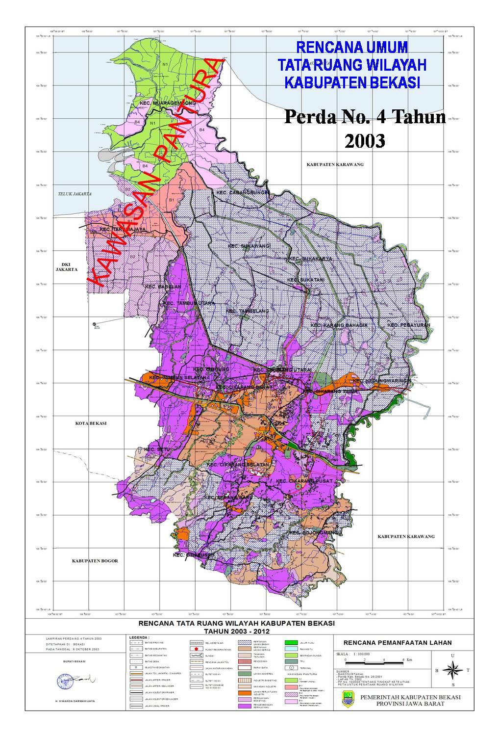 Peta Kota: Peta Kabupaten Bekasi