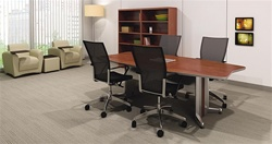 Tablet Arm Lounge Chairs in Boardroom