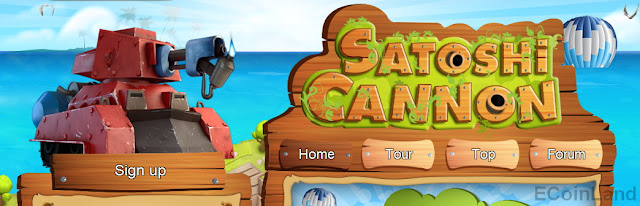 Get paid FREE satoshi playing CannonSatoshi facuet and invest game