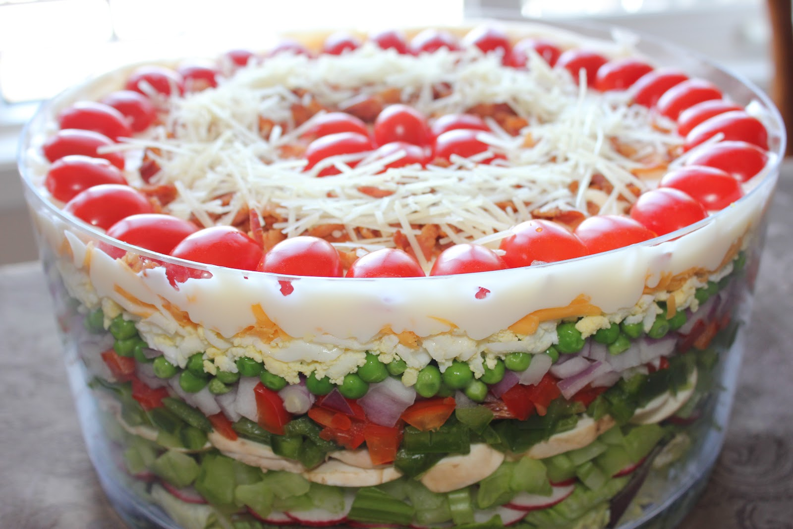 Sisters Luv 2 Cook: Betty's Layered Salad