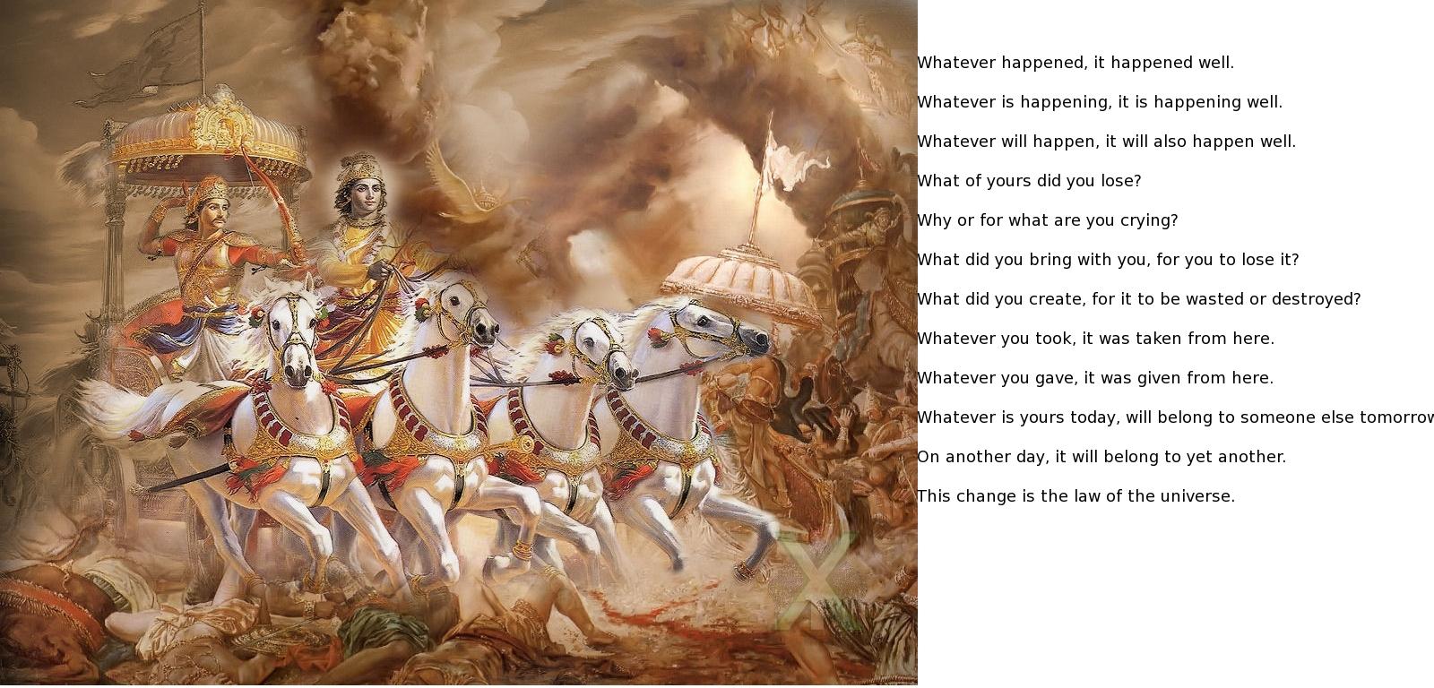 essence of gita in english essence of gita in tamil gurushektra ...