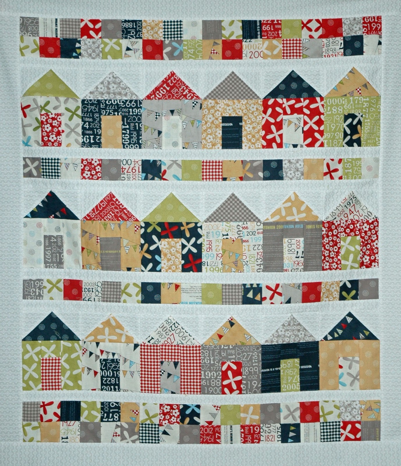 Islandlife quilts the construction phase is now complete for House of patterns