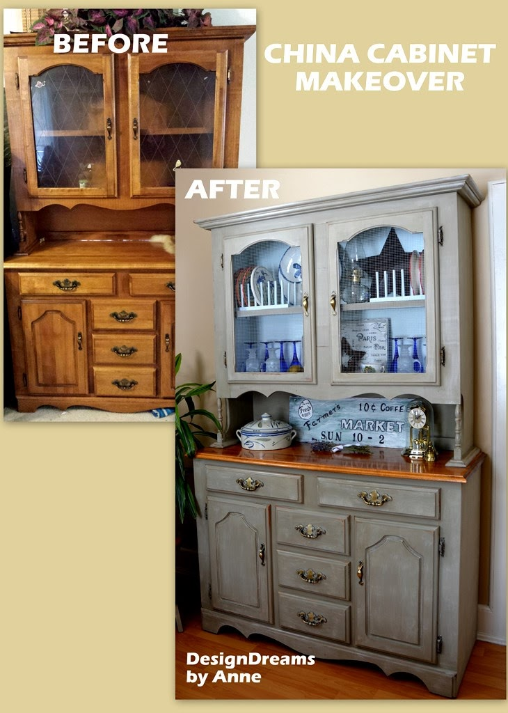 Designdreams By Anne Farmhouse China Cabinet Makeover