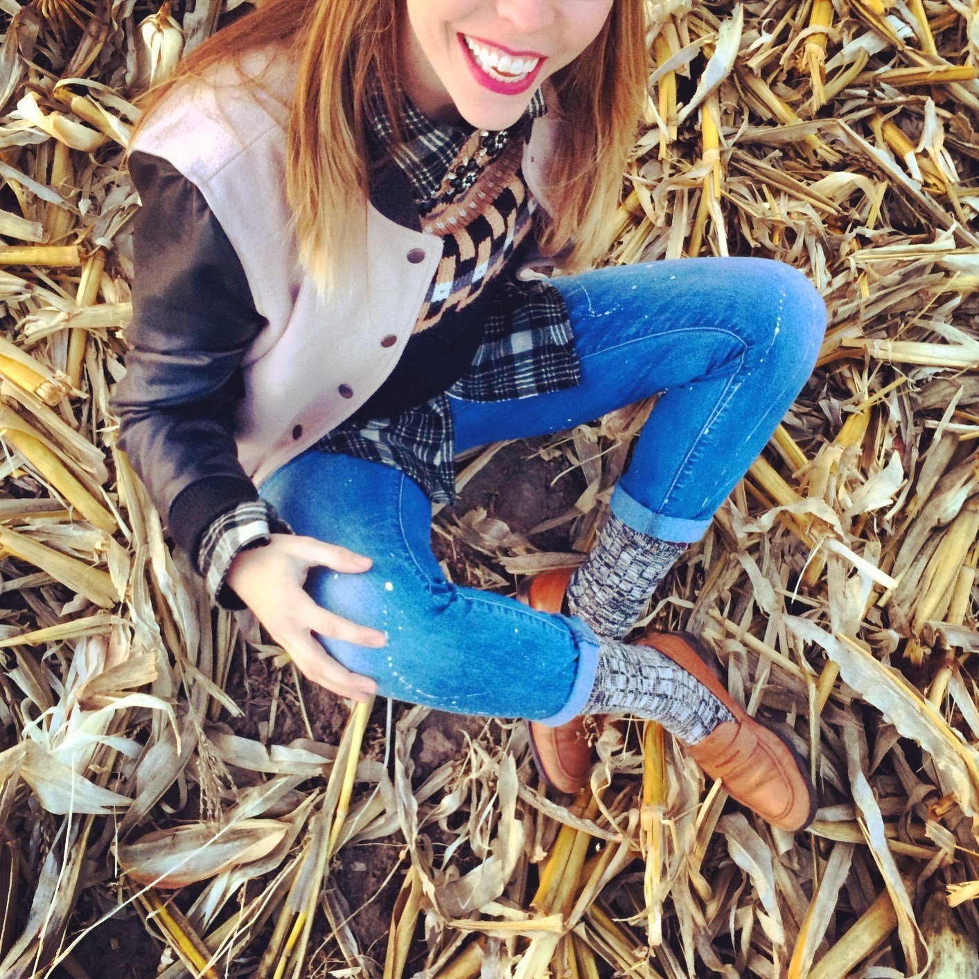 Nebraska, cornfield, Madewell, Topshop, Plaid, Denim, Fashion, Casual, Roots, Corn, winter