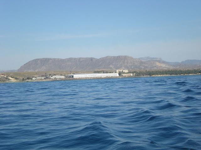 Desde el mar en Aguamarga.